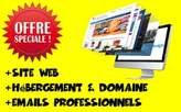 Site internet + Hébergement Web + Emails Pro - Cameroun