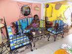Salon Royal en Fer Forge 5 Places + 01 Table - Cameroun