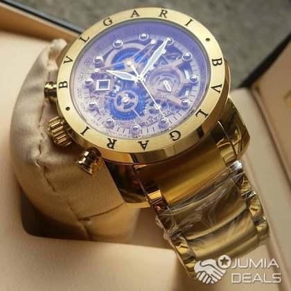 bvlgari gold watch