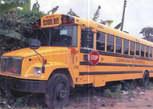 Two American Long School Buses - Nigeria